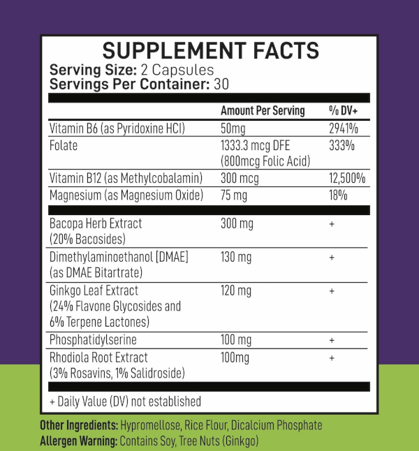 Nutrascend Achieve ingredients